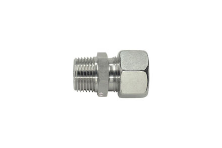 Stainless Cutting Ring Tube Coupling 24° - Metric Male Stud Couplings - Taper - Extra light type photo du produit