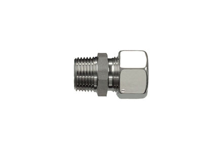 Stainless Cutting Ring Tube Coupling 24° - BSP Male Stud Couplings - Taper - Extra Light type photo du produit
