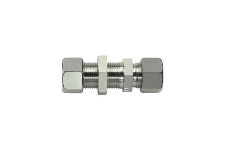 Stainless Cutting Ring Tube Coupling 24° - Straight Bulkhead Connections- Extra Light product photo