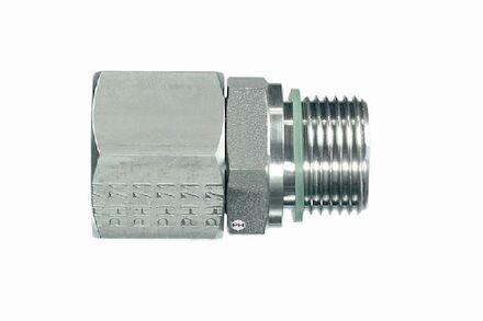 Snijringverbinding 24° RVS - DIN 3861 - inschroefkoppeling BSP - DKO - serie Licht product photo