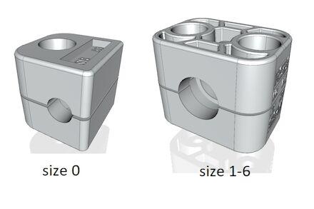 Aluminium Leidingbeugels Standaard Serie Twee Leidingbeugelhelften met geribbelde binnenzijde DIN 3015-1 product photo