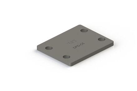 Staal Leidingbeugels-bevestigingsmateriaal Bovenplaat Dubbel DIN 3015-2 product photo