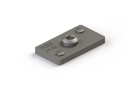 Staal Leidingbeugels-bevestigingsmateriaal Lasplaat met Verdraaizekering DIN 3015-3 product photo