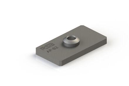 Steel Tube Clamps Mounting Hardware Welding Plate DIN 3015-3 photo du produit