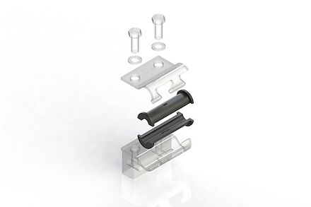 TPE Zwart Leidingbeugels-bevestigingsmateriaal Geluidsdempende rubber TPE inlage product photo