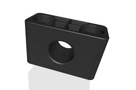 TPE Zwart Leidingbeugels Zware Serie Twee Leidingbeugelhelften met gladde binnenzijde DIN 3015-2 product photo