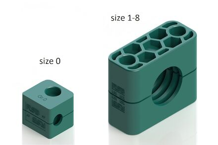 Polypropylene Green Tube Clamps Standard Series Two Clamphalves Ribbed DIN 3015-1 (RAPR) photo du produit
