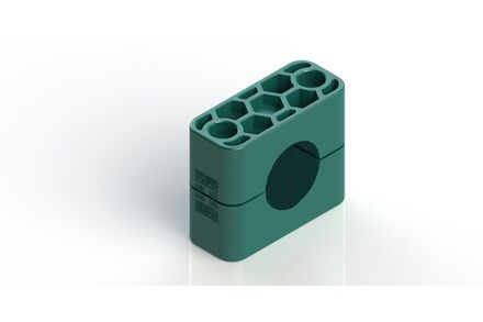 Polypropylene Green Tube Clamps Standard Series Two Clamphalves Inside Smooth DIN 3015-1 (RAPG) photo du produit