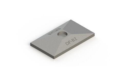 Plaque de protection pour collier double, inox photo du produit