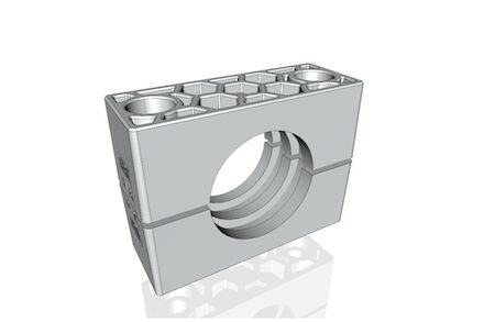 Aluminium Tube Clamps Heavy Series Two Clamphalves Ribbed DIN 3015-2 (RCAR) product photo