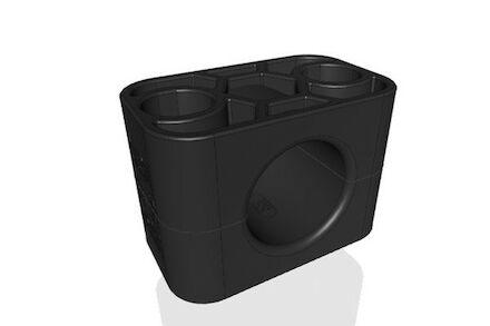 TPE Zwart Leidingbeugels Standaard Serie Twee Leidingbeugelhelften met gladde binnenzijde DIN 3015-1 product photo
