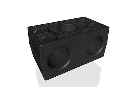 TPE Zwart Leidingbeugels Dubbel Serie Twee Leidingbeugelhelften met gladde binnenzijde dubbel DIN 3015-3 product photo