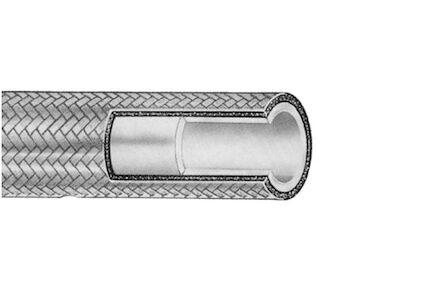 Teflon slang met gladde binnenmantel en RVS gevlochten buitenmantel product photo