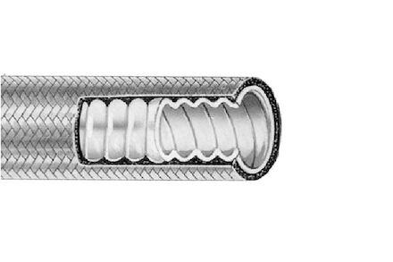 Teflon slang met gegolfde binnenmantel en RVS gevlochten buitenmantel product photo