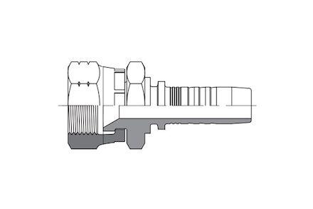 Hydraulic Hose Insert - JIS METRIC FEMALE 60° CONE SEAT (KOMATSU) DKK product photo