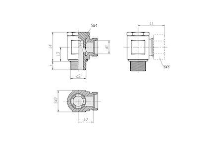 Snijringverbinding 24° - DIN 2353 - 90° banjokoppeling metrisch - serie Licht product photo