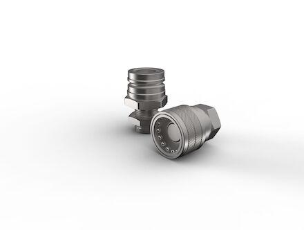 Steel brake circuit locking balls type quick coupling JIC male product photo