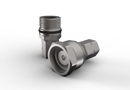 Hydraulic Quick Coupling - MQS-SGR - Screw type Heavy Duty - Female part - Metric Bulkhead product photo