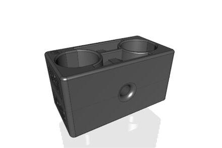 Polyamide Zwart Leidingbeugels Zware Serie Twee Leidingbeugelhelften met gladde binnenzijde DIN 3015-2 product photo
