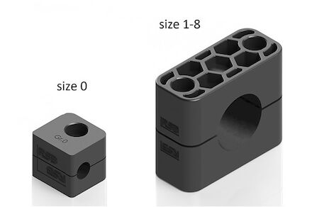 Polypropylene Black Tube Clamps Standard Series Two Clamphalves Inside Smooth DIN 3015-1 (RAPG) product photo