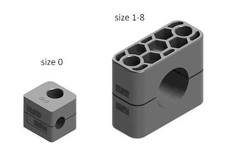 Polypropyleen met Corrossieremmer Grijs Leidingbeugels Standaard Serie Twee Leidingbeugelhelften met gladde binnenzijde DIN 3015-1 product photo