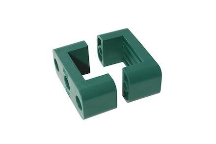 Polypropyleen Groen Leidingbeugels Standaard Serie Twee Leidingbeugelhelften geschikt voor Sensor DIN 3015-1 product photo