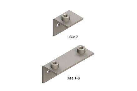 Leidingbeugels-bevestigingsmateriaal RVS Lasplaat Diepgetrokken Haaks DIN 3015-1 product photo