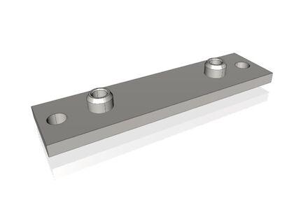 Staal Leidingbeugels-bevestigingsmateriaal Lasplaat Lang DIN 3015-2 product photo