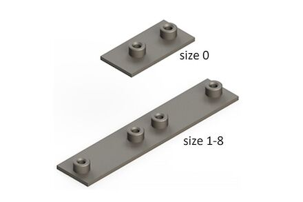 Staal Leidingbeugels-bevestigingsmateriaal Lasplaat Dubbel DIN 3015-1 product photo