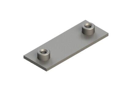 Staal Leidingbeugels-bevestigingsmateriaal Lasplaat Multi 3 buizen 2 schroeven DIN 3015-1 product photo