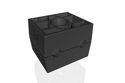 Polypropyleen Zwart Leidingbeugels Dubbel Serie Twee Leidingbeugelhelften met geribbelde binnenzijde dubbel DIN 3015-3 product photo