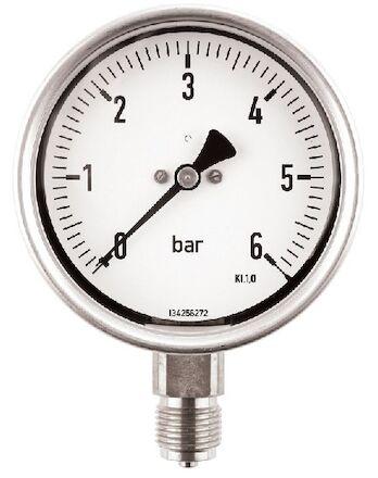 Manomètre à bain de glycérine, diamètre 100, piquage 1/2 vertical photo du produit