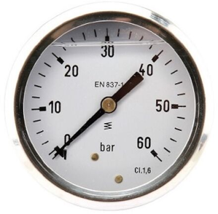Pressure gauge 63mm SS body, Glycerine filled, centre back entry product photo