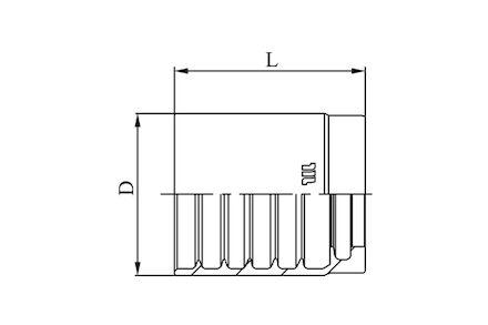 M03400 - Oprawka do węży z oplotem plecionym - Zinc Nickel (Cynk Nikiel) product photo