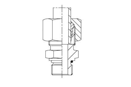 Připojovací adaptér GE pro metrické trubky 24° DIN2353 závit UNF/UN lehká řada product photo
