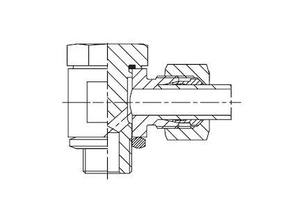 Przyłączka BANJO 90° do Rur Metrycznych 24° DIN 2353 - Metryczna - seria Lekka product photo