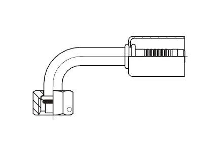 Embout à sertir femelle O'ring à 90° pour climatisation photo du produit