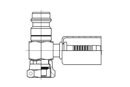 Refrigeration Hose Fitting - SHORT VERSION O-RING FEMALE WITH HIGH PRESSURE VALVE photo du produit