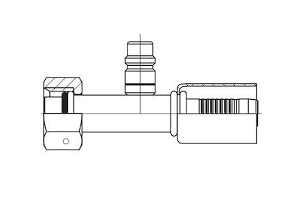 Refrigeration Hose Fitting - STRAIGHT O-RING FEMALE WITH LOW PRESSURE VALVE photo du produit
