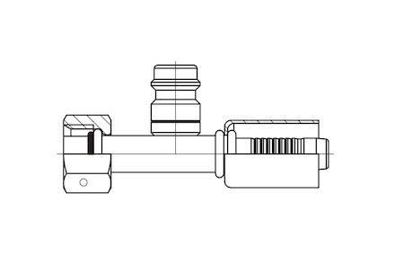 Refrigeration Hose Fitting - STRAIGHT O-RING FEMALE WITH HIGH PRESSURE VALVE photo du produit