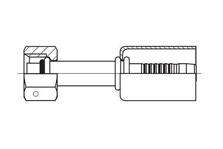 Embout à sertir femelle O'ring pour climatisation photo du produit