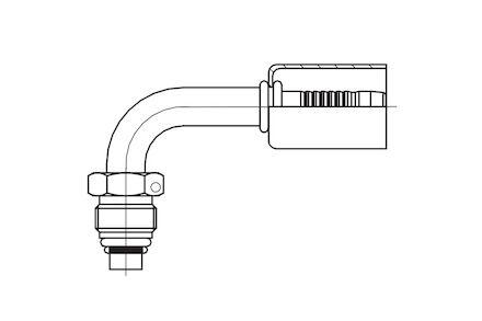 Refrigeration Hose Fitting - O-RING MALE 90° ELBOW photo du produit