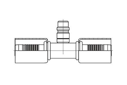 Końcówka łącząca do węża klimatyzacji DN10 z zaworem niskiego ciśnienia product photo
