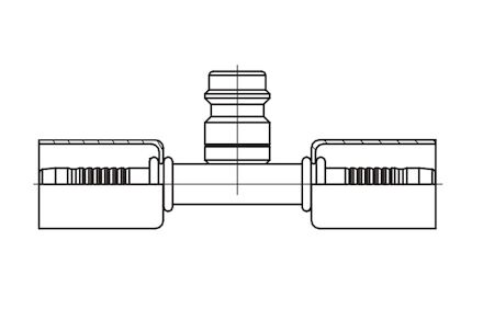 Refrigeration Hose Fitting - CONNECTION FITTING WITH HIGH PRESSURE VALVE photo du produit