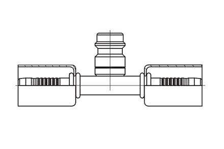 Końcówka łącząca do węża klimatyzacji DN10 z zaworem wysokiego ciśnienia product photo