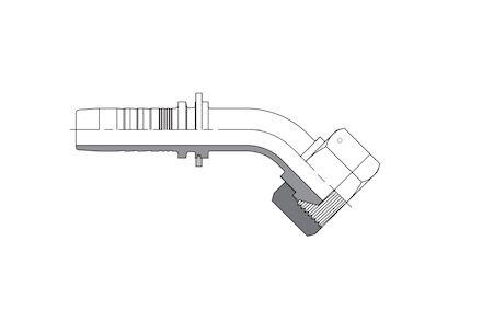 Końcówka do Węża - 45° Metryczna ŻEŃSKA KOLANKO 60° STOŻEK - DKL product photo