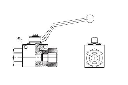 Dvoucestné kulové ventily product photo