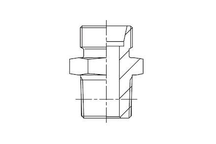 Przyłączka prosta - gwint stożkowy metryczny product photo