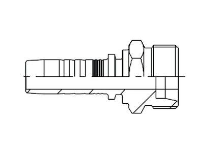 Embout mâle, cône 24°, pour tube métrique, série française photo du produit