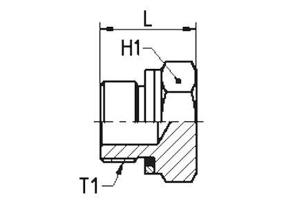 Hydraulický adaptér - zátka MALE BSP product photo